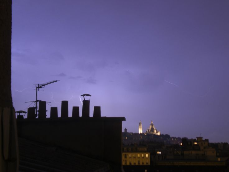 Lightning over Paris. September 2013. Photo by Sonja Salt