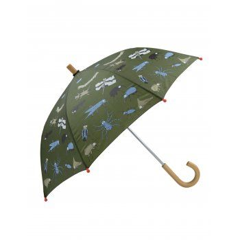 Rain, rain, don't go away, Hatley children's umbrellas are here to save the day!  Inspired by nature, this fun bugs children's umbrella is full of creepy crawlies, and with Hatley's motto, to help children to see the bright side of grey rainy days, this Fun Bugs kids umbrella will ensure the rain does not bug your little soldier.  http://www.theumbrellashop.co.uk/kids-c29/hatley-fun-bugs-childrens-umbrella-in-khaki-green-p402