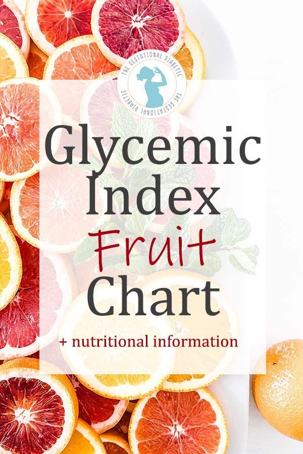 Can You Get Diabetes From Fruit Sugar 42 Fruits Glycemic Index Fruit List For Diabetes The Gestational Diabetic In 2020 Low Glycemic Foods Fruit List Low Glycemic Diet
