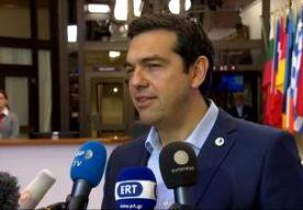 13-Jul-2015 10:34 - PREMIER TSIPRAS: GREXIT IS VERLEDEN TIJD. Griekenland kan weer economisch groeien nu een Grexit is afgewend. Dat heeft premier Tsipras gezegd nadat de EU-regeringsleiders het eens waren geworden over een nieuw noodpakket voor zijn land. Tsipras zegt dat er een herstructurering komt van de Griekse schuld. Hij zei niet op welke manier dat gaat gebeuren. Bondskanselier Merkel lijkt hem tegen te spreken. Volgens haar is er in elk geval op korte termijn geen sprake van...