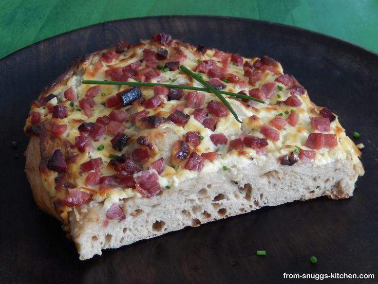 hessian bacon flatbread / hessischer speckkuchen