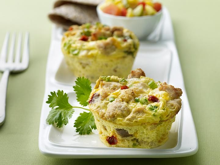 Veggie Frittata With Turkey Bacon | The Biggest Loser - I saw this on the show tonight and you can substitute sausage for the bacon. Looks delish!