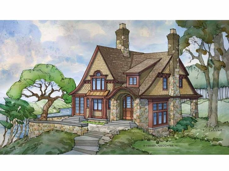 636 best images about fairytale hobbit houses storybook for Storybook cottage home plans