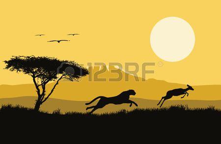 Vektor-Illustration von Afrika. Lizenzfreie Bilder - 52887597