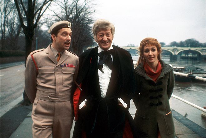 The Third Doctor and companion Liz Shaw