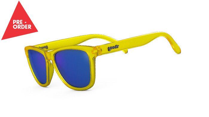 goodr running sunglasses. Cool colors, no slip & $25 !