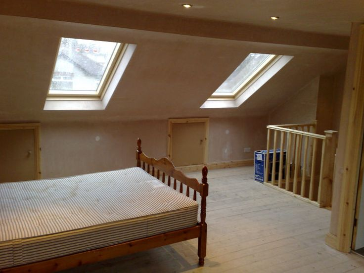 Very simple loft conversion unfinished home loft conversions pinterest lofts and attic for Cost to convert attic to bedroom
