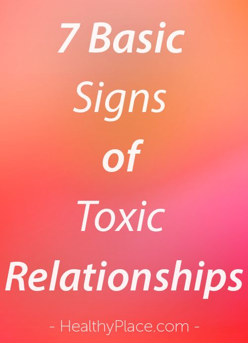 what are the signs of a toxic relationship