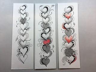 Inkidoodles.com Melinda Barlow CZT : Heartthrob Tangle Lesson Pattern #137
