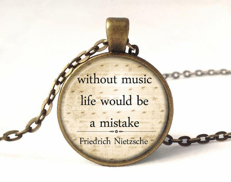 QUOTE-NIETZSCHE Necklace, Quote Pendant, 0220PB from EgginEgg by DaWanda.com