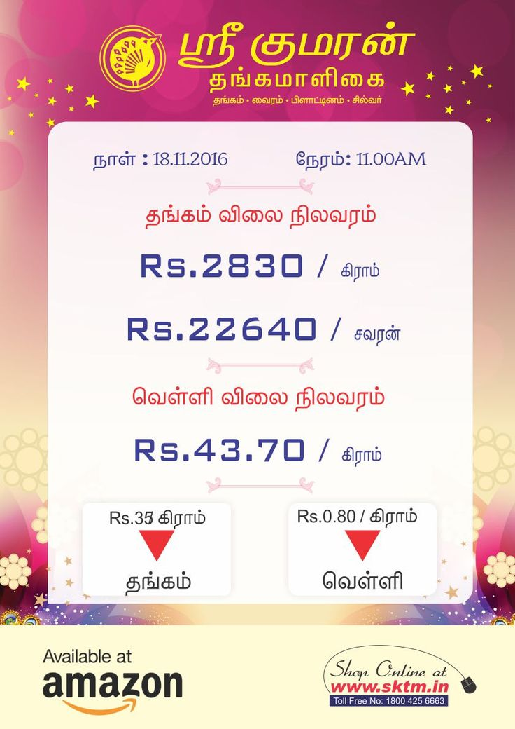 Gold Rate Drop. Hurry Up! Purchase Latest Gold Collections at Sree Kumaran Thangamaligai - www.sktm.in