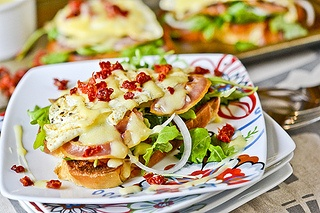 Fancy Egg Sandwiches by fullforkahead: Turn warm egg on toast into a