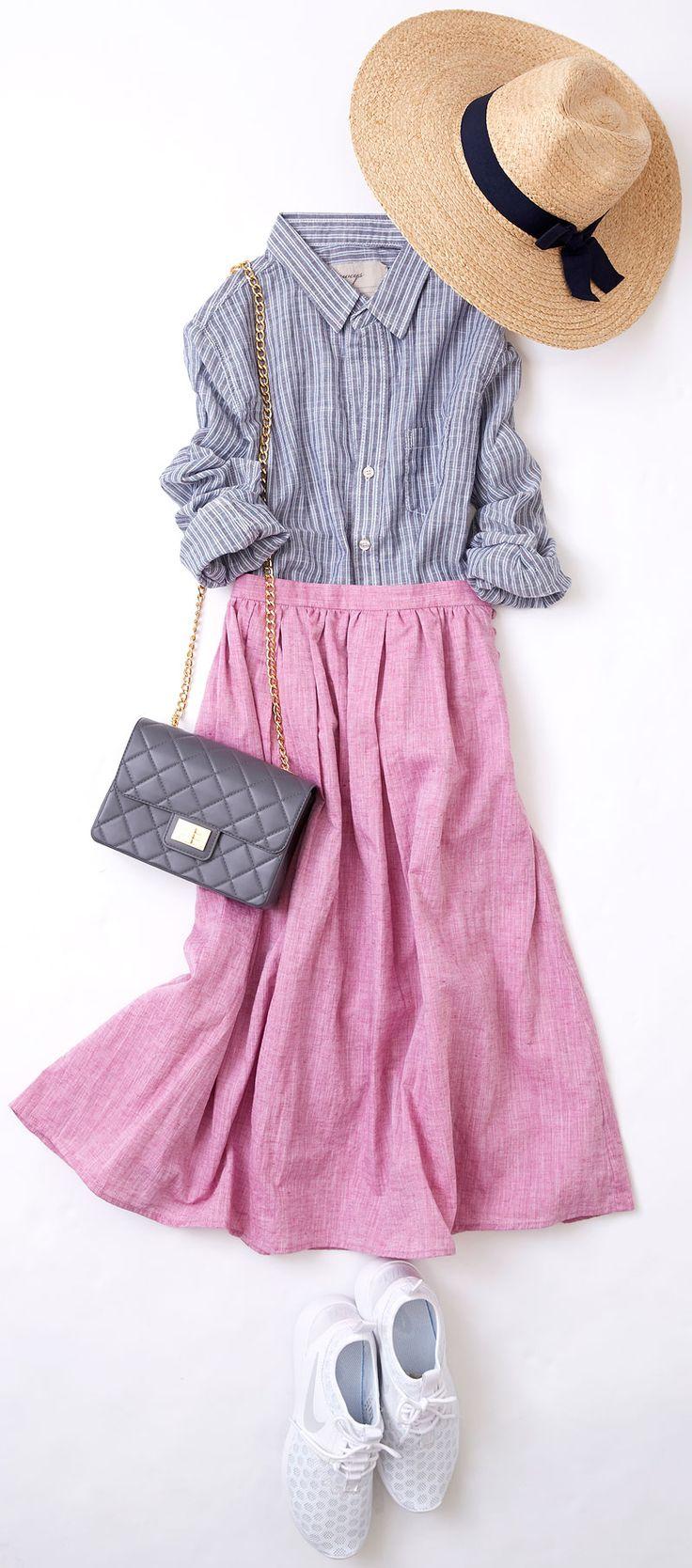 旅を感じさせるタウンファッションは? ルミネ新宿 ルミネ2のアイテムから、夏らしさの代表マリンルックを、今年らしく着こなすレッスン! 人気スタイリスト入江未悠さんが「大人かわいい」をテーマに、上品でまねしやすいスタイリングを提案します!