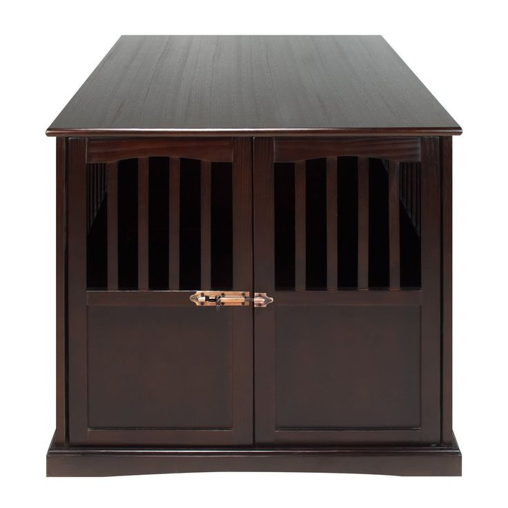 Hot Sale! Wooden Furniture XL Pet Crate Espresso Solid Wood End Table Kennel Consule Decor * See this great product.-It is an affiliate link to Amazon. #DogHousesCagesPens