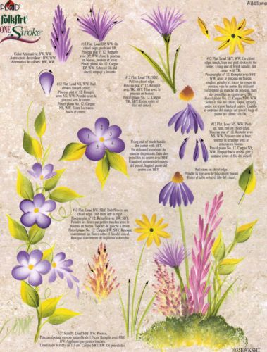 Wildflowers & Sunflower RTG Worksheet by Donna Dewberry