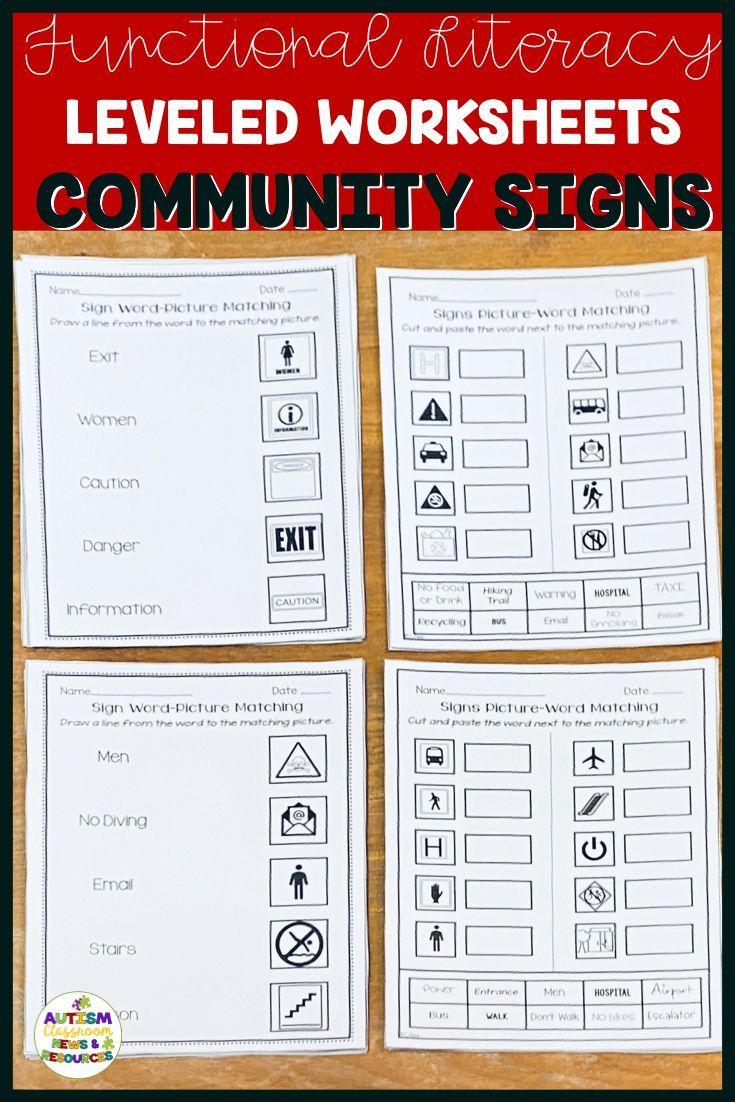 Functional Literacy Worksheets Reading Comprehension Of Common Signs Functional Literacy Reading Comprehension Worksheets Literacy Worksheets [ 1102 x 735 Pixel ]