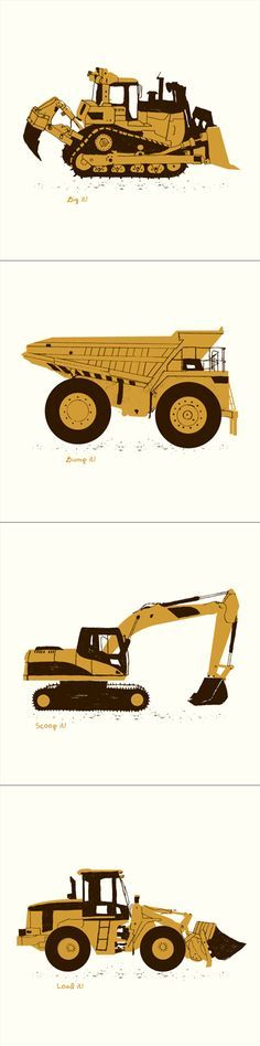 construction truck prints. maybe for a little boy I know who loves cars and trucks!