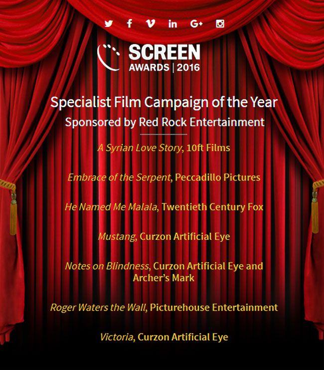 Red Rock Entertainment sponsor Screen Awards