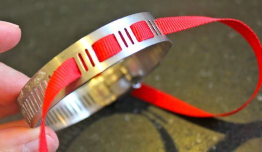Bracelet out of a pipe clamp!