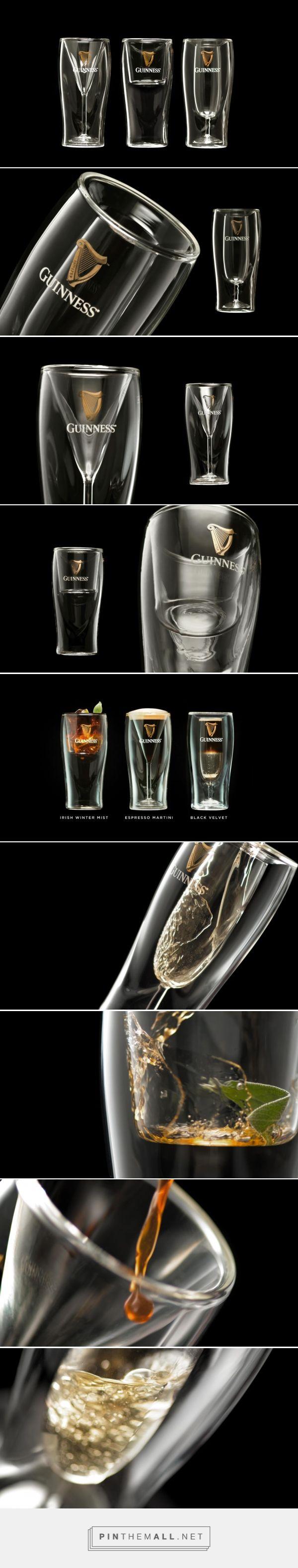 Guinness Signature Cocktail Glasses design by Ogilvydo (Ogilvy Malaysia) - http://www.packagingoftheworld.com/2016/12/guinness-signature-cocktail-glasses.html