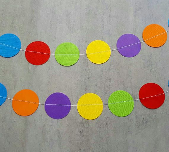 Check out this item in my Etsy shop https://www.etsy.com/au/listing/518321114/rainbow-garland-paper-garland-party