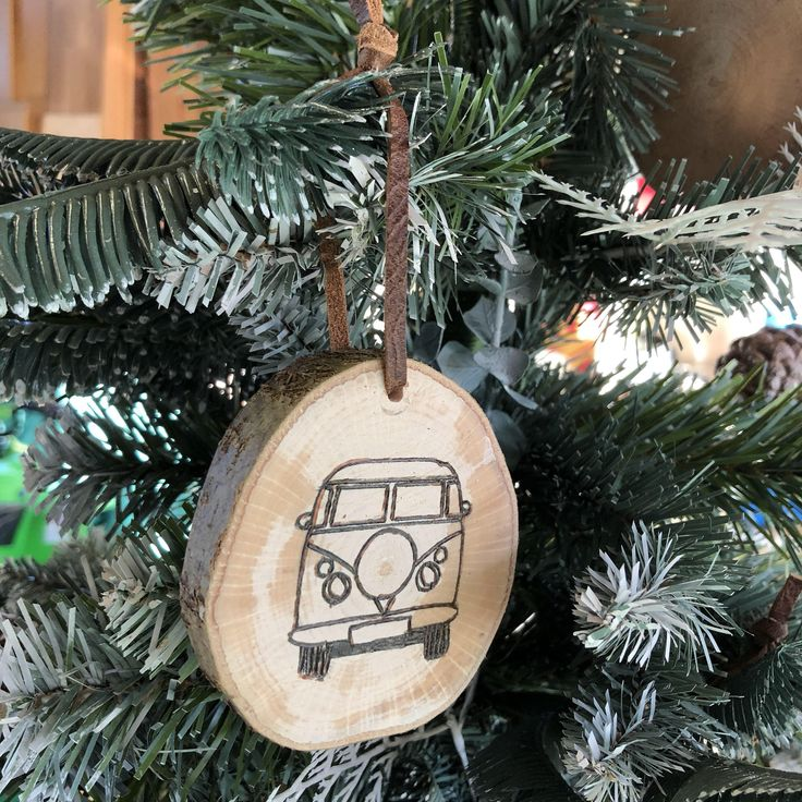 Excited to share the latest addition to my #etsy shop: Handmade wooden tree ornament - camper van