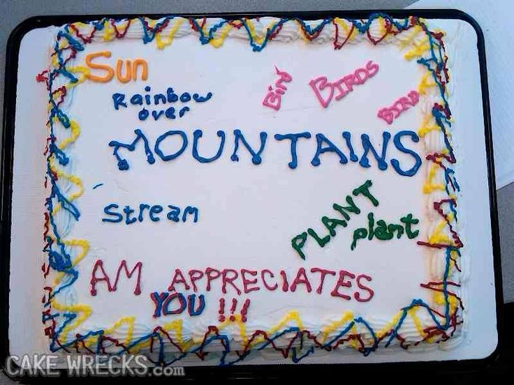 Best Cake Fail Images On Pinterest Cake Fail Cake Wrecks And - Words on cake for birthday