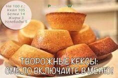 Творожные кексы: смело включайте в меню!   Здоровое питание