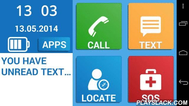 Simple Senior Phone  Android App - playslack.com , Senior Phone features a simple and easy interface with big buttons for easy calling, texting, SOS, location functions and other functions (weather, magnifier, music, torch,..). A perfect phone and a simple launcher for your grandparent. Senior Phone makes your phone easier to use - be it for you, your parents, grandparents, seniors or anyone else. Use it as simplified phone or simple launcher! Not all of us necessarily need or want our…