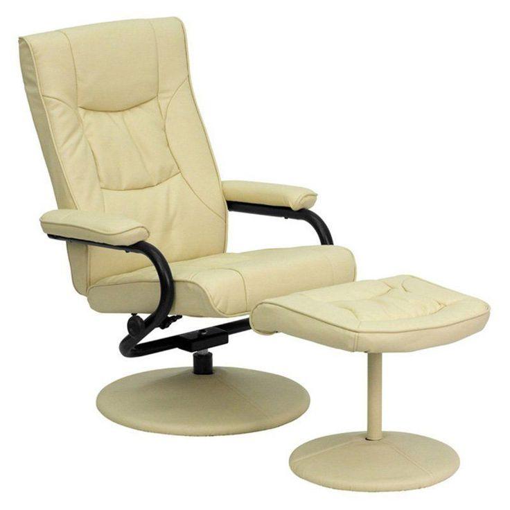 Swivel Recliner Chair Ottoman Cream Leather Upholstery Overstuffed Cushions New  sc 1 st  Pinterest & 25+ best Swivel recliner chairs ideas on Pinterest | Stylish ... islam-shia.org
