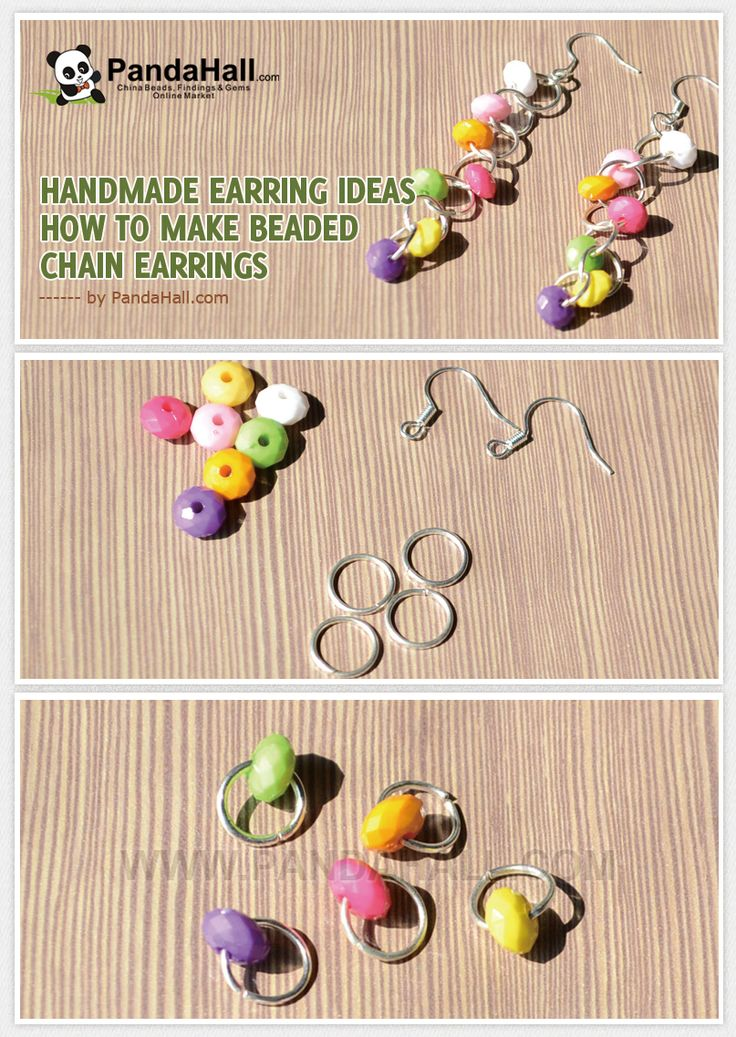 1414 best jewelry diy earrings images on pinterest jewelry ideas handmade earring ideas how to make beaded chain earrings from pandahall diy solutioingenieria Images