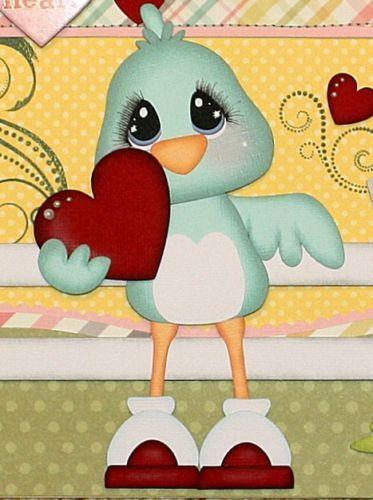 ELITE4U PMBY JULIE Child Valentine premade scrapbook pages 4 album paper piecing