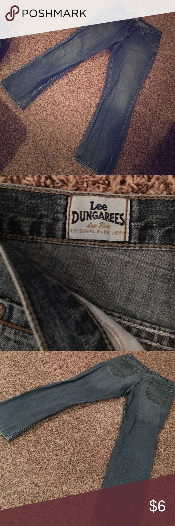 Mens Lee Dungarees Low Rise Original Blue Jean These Lees are in great condition. Size 32/32. Low Rise. The original blue jean Lee Jeans Bootcut