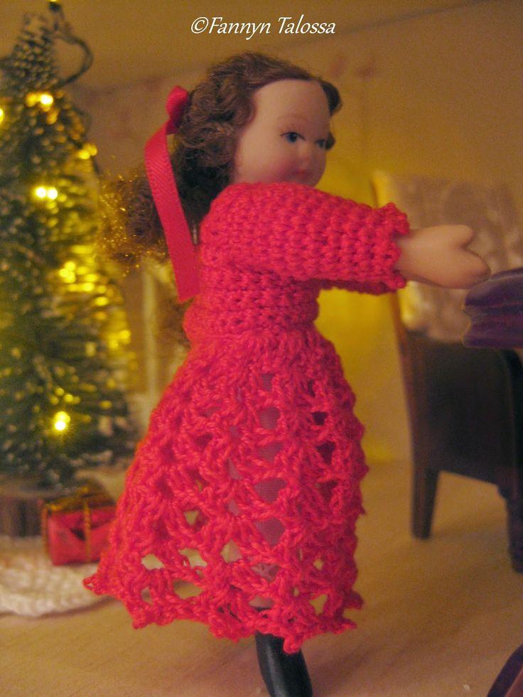 new crochet christmas dress for the doll house girl
