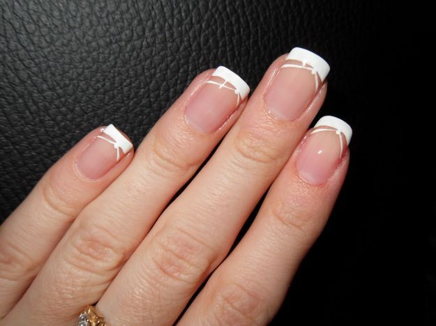 Стильный белый шеллак френч ::: onelady.ru ::: #nail #nails #nailart #manicure