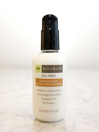 In addition to supermoisturizers glycerin and shea butter, this lightweight, fragrance-free lotion contains aloe, retinol, and antioxidant-rich green tea to soothe and protect skin while fighting signs of aging. The only thing it's missing is a sunscreen—but because it absorbs quickly, it layers well under your usual one.