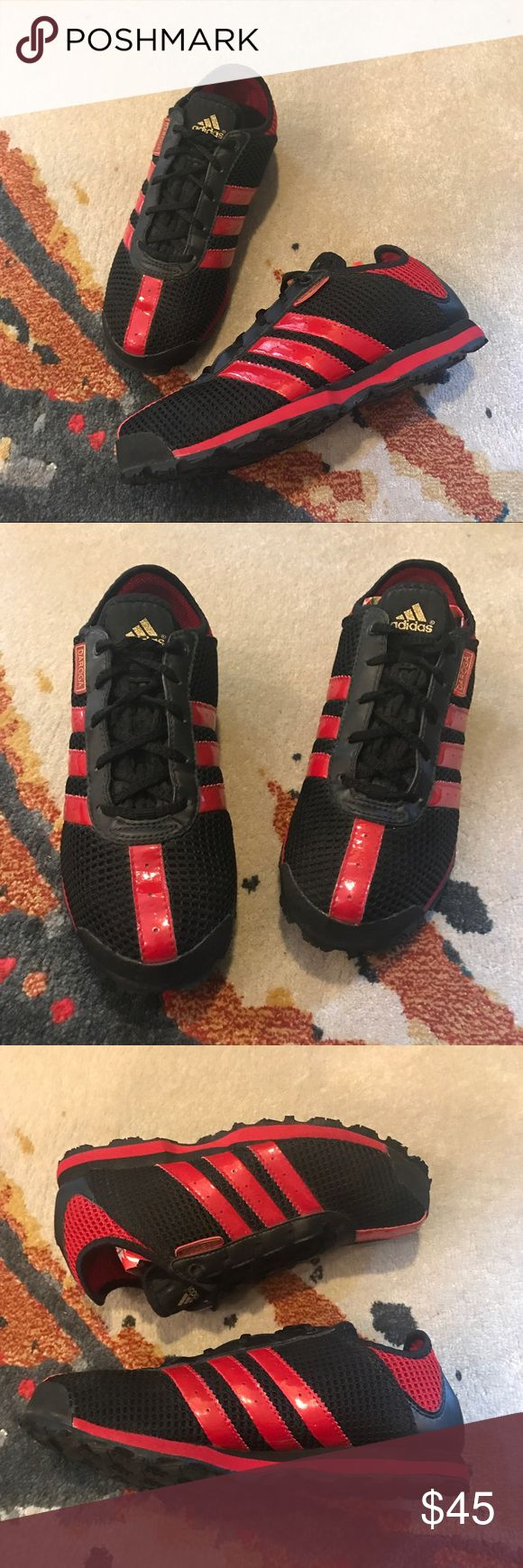 Adidas Adventure Sneakers Black and Red Adidas Daroga Adventure sneakers. Lightweight light adidas athletic shoes in great condition. Great for hiking. adidas Shoes Athletic Shoes