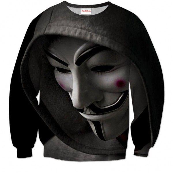 ANONYMOUS Sweatshirt Full Print 3D