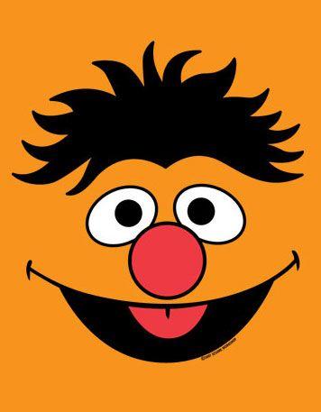 Ernie face template   Levi's 1 birthday   Pinterest