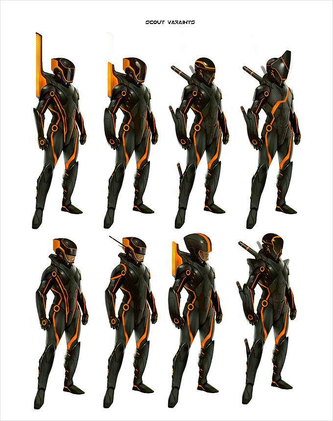 Character Concept Design Jobs : Tron evolution concept art by daryl mandryk