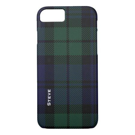 Black Watch Tartan Plaid iPhone 7 Case - tap to personalize and get yours