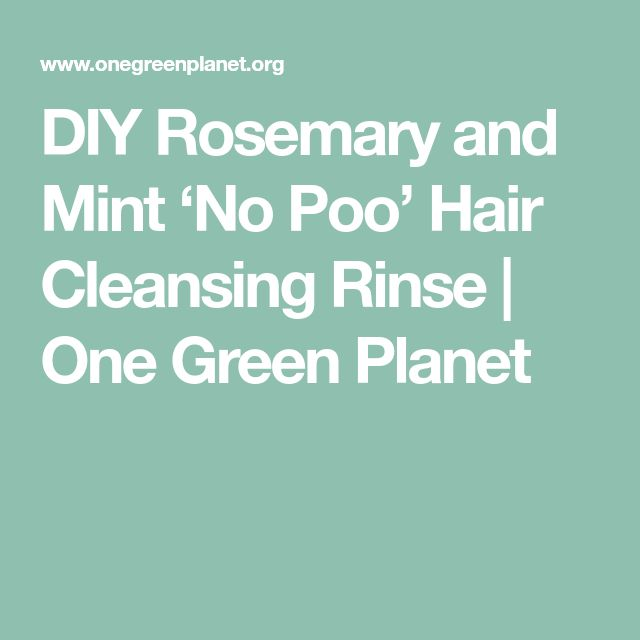 DIY Rosemary and Mint 'No Poo' Hair Cleansing Rinse | One Green Planet