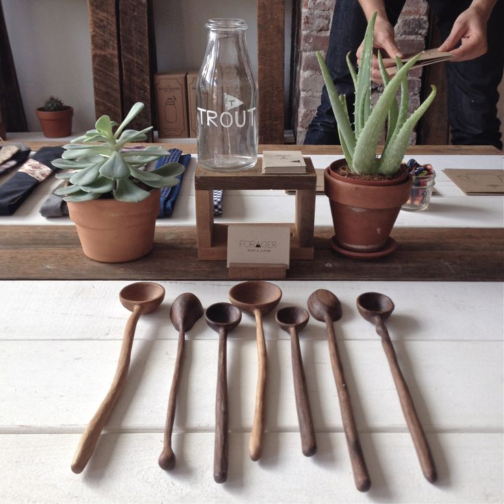 Hand-carved spoons by @dominictweed Tweed available at TROUT & CO. #handcrafted #madeinvancouver #supportlocal
