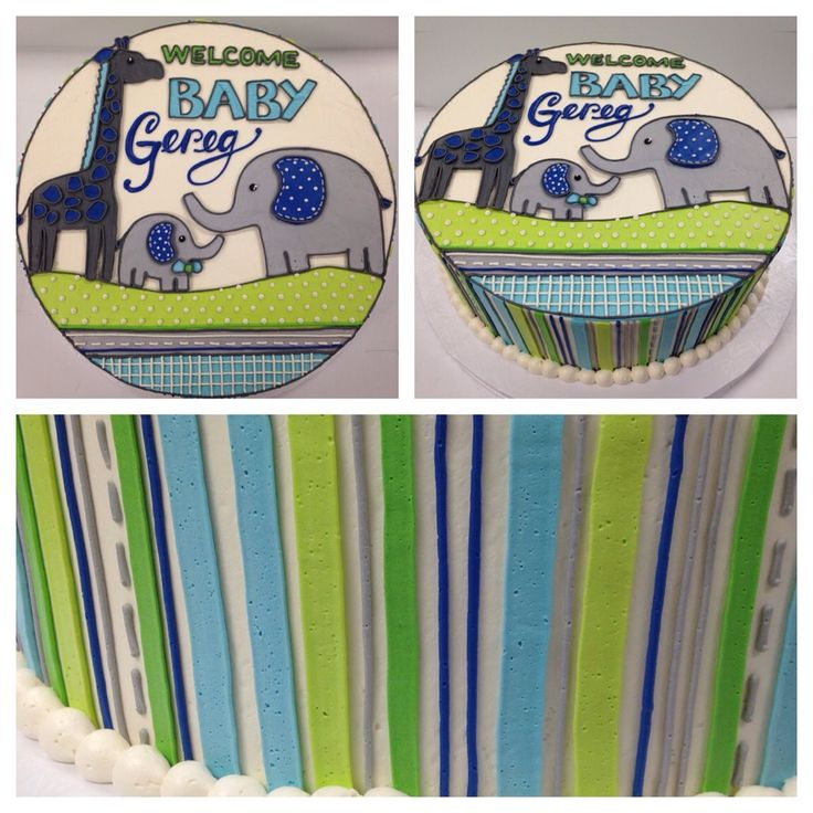 baby shower cake to match an invitation