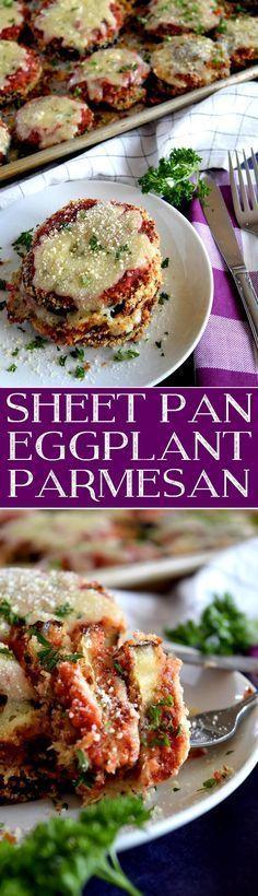 Sheet Pan Eggplant Parmesan #EggplantPizzaRecipe