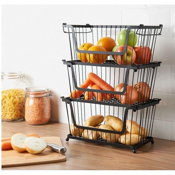 Stackable Basket In 2020 Kitchen Counter Storage Fruit Storage