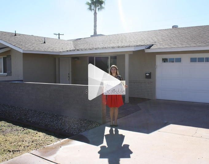 Great Old Town Scottsdale neighborhood, this Scottsdale home for sale is fully remodeled!  Check out the fun video!