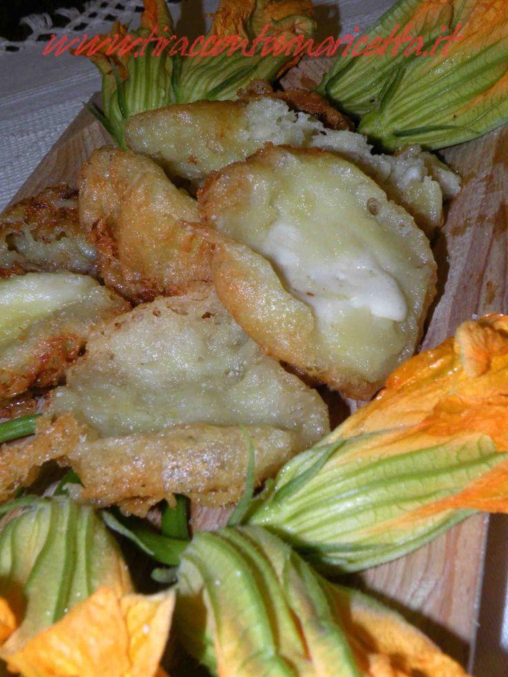 Frittelle di mozzarella e zafferano di Navelli