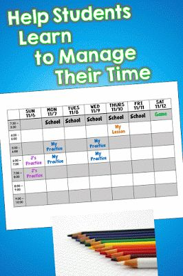 """Help student learn to manage their time to avoid the """"I didn't have time to do my homework, because..."""" statements:-)"""