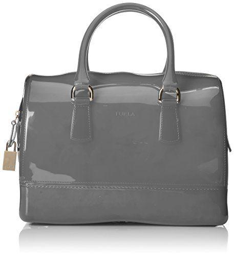 FURLA Candy Medium Satchel Handbag,Nebbia,One Size